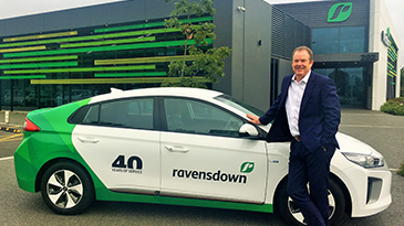 Ravensdown chief executive Greg Campbell outside the company's new office.