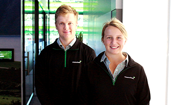 Tom Wilson and Lucy Bell, Graduate Regional Agri Support